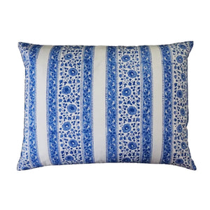 Mini Pillow Case - Block Printed - Stipe Border