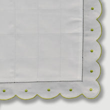 Load image into Gallery viewer, Mini Pillow Case - Scallop Dot - Lime Green