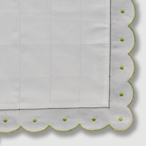 Mini Pillow Case - Scallop Dot - Lime Green