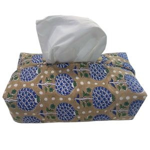 Fabric Tissue Box Cover Mogul Rose