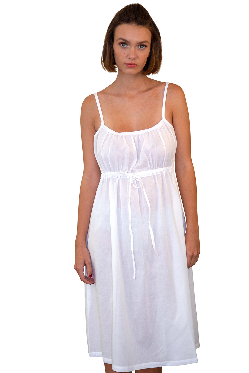 Night Dress Short - White
