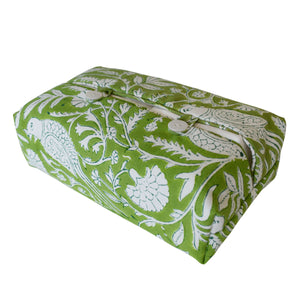 Fabric Tissue Box Cover -  Parrot print