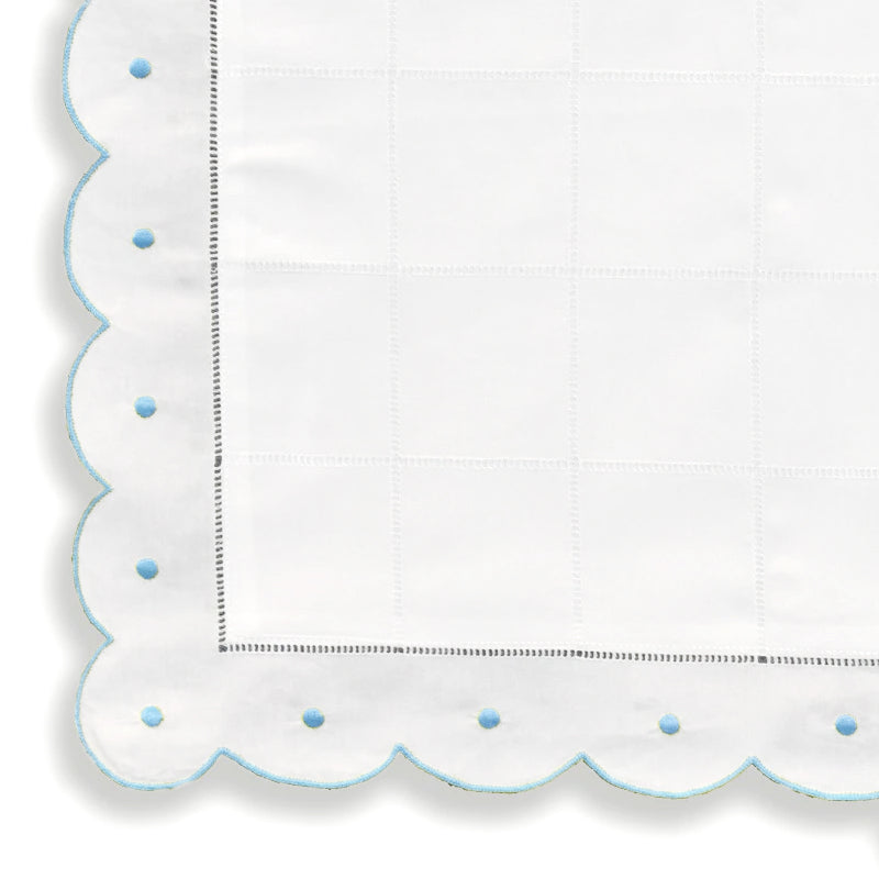 Pillow Cases - Scallop Dot - Mid Blue