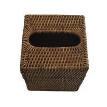 Load image into Gallery viewer, Rattan Tissue Box - Square - Brown
