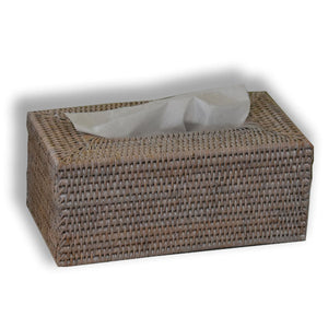 rattan tissue box cover white wash at pigott's store
