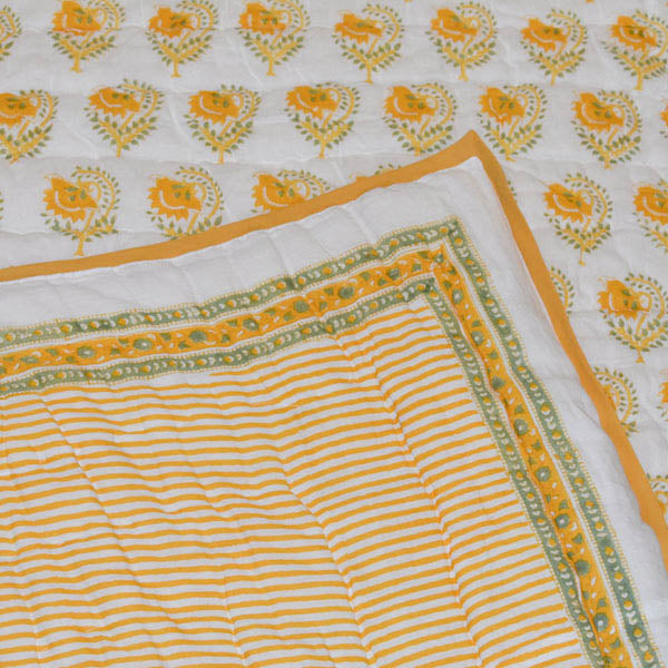 Quilt - Stripe Buta - Yellow