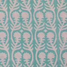 Load image into Gallery viewer, Sally Aqua Fine Indian Cotton Fabric at Pigott's Store