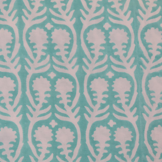 Sally Aqua Fine Indian Cotton Fabric at Pigott's Store