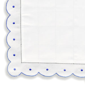 Mini Pillow Case - Scallop Dot - Blue CC-NB2000/312