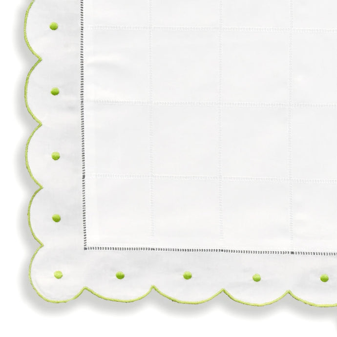 Pillow Cases - Scallop Dot - Lime Green NB2000/907