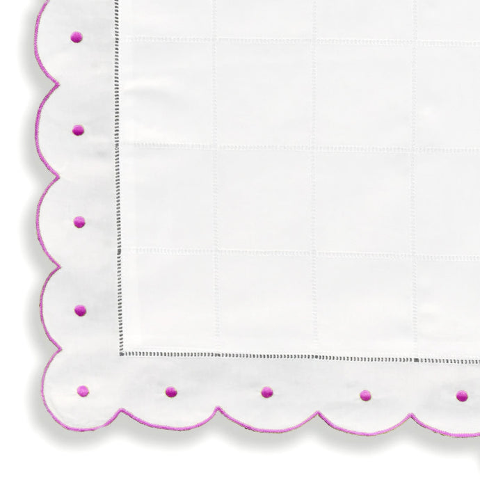 Pillow Cases - Scallop Dot - Pink NB2000/603