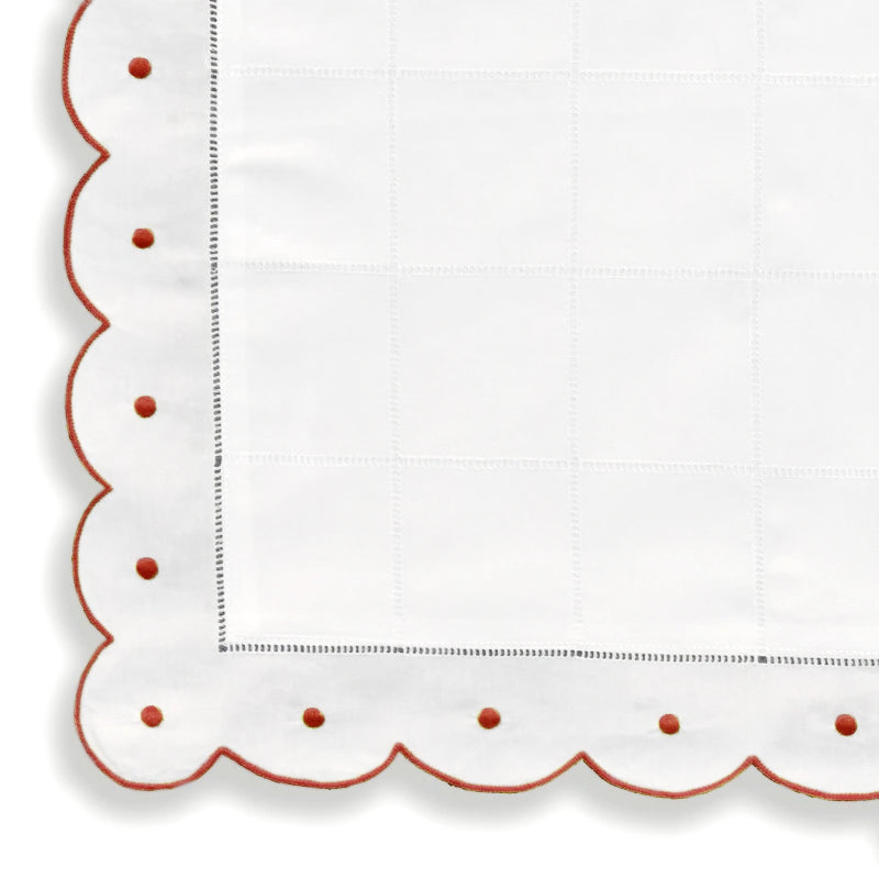 Mini Pillow Case - Scallop Dot - Red CC-NB2000/321