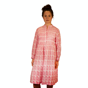 Pleated Dress - Gita Paisley