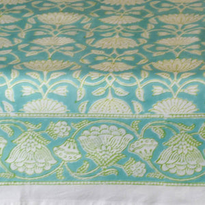 Fine Indian Hand Block Printed Cotton Table Cloth at Pigott's Store