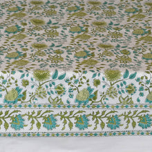 Load image into Gallery viewer, Fine Indian Hand Block Printed Cotton Table Cloth at Pigott's Store