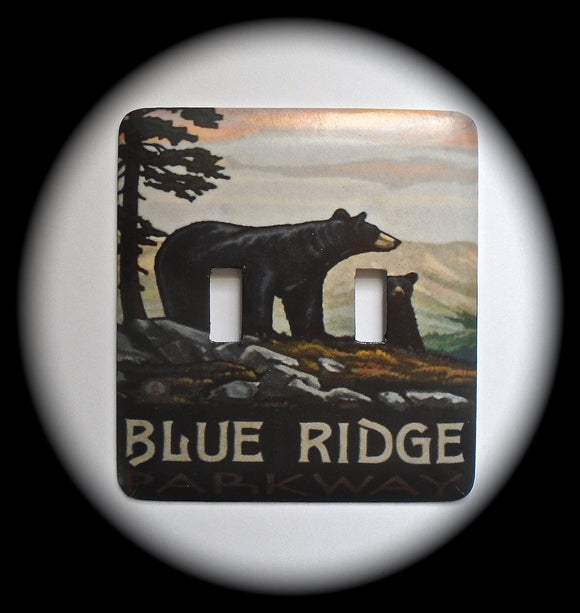Metal Double Toggle Switch Plate Cover ~ Blue Ridge Parkway - Just Switch It 2