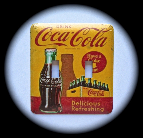 Metal Double Toggle Switch Plate Cover ~ Deliciously Refreshing Soda - Just Switch It 2