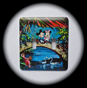 Metal Double Toggle Switch Plate Cover ~ Cartoon Mouse Characters - Just Switch It 2
