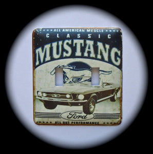 Metal Double Toggle Switch Plate Cover ~ Ford Mustang - Just Switch It 2