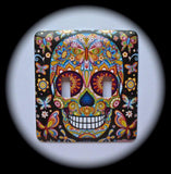 Metal Double Toggle Switch Plate Cover ~ Day of the Dead Sugar Skull - Just Switch It 2