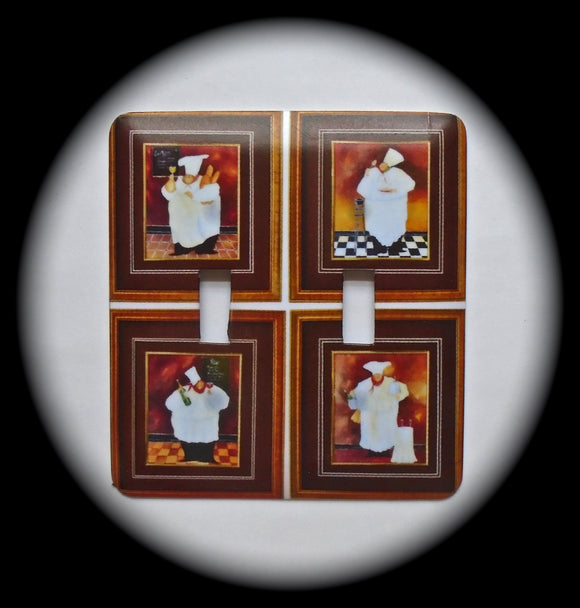 Double Switch Plate ~ Chefs