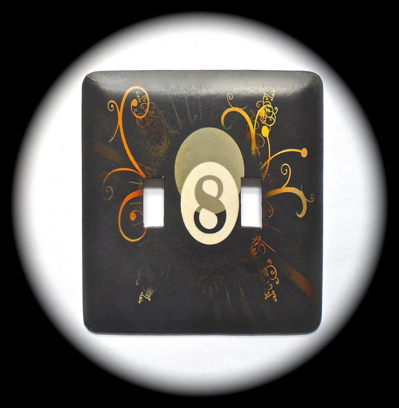Double Switch Plate ~ Billiards 8 Ball