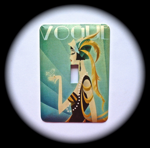 Metal Single Toggle Switch Plate Cover ~ Art Deco Vogue - Just Switch It 2