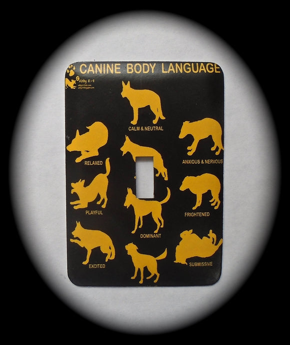 Metal Single Toggle Switch Plate Cover ~ Canine Body Language - Just Switch It 2