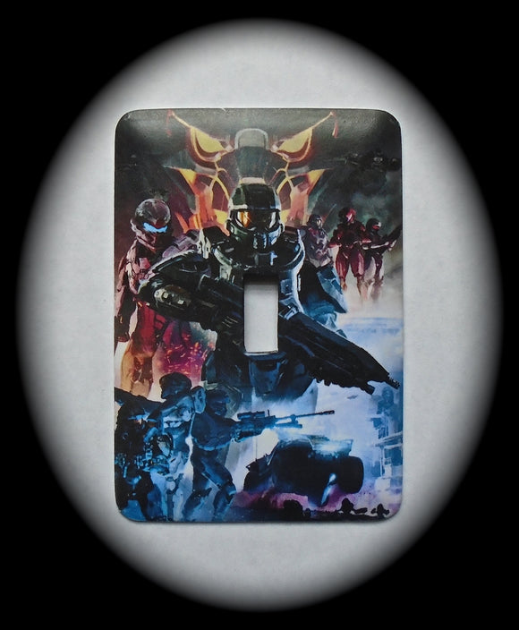 Metal Single Toggle Switch Plate Cover ~ Anime Halo - Just Switch It 2