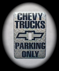 Metal Single Toggle Switch Plate Cover ~ Chevy Sign - Just Switch It 2
