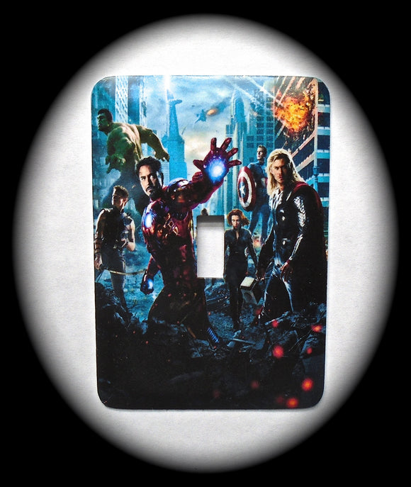 Metal Single Toggle Switch Plate Cover ~ Sci-Fi Superheroes Movie - Just Switch It 2