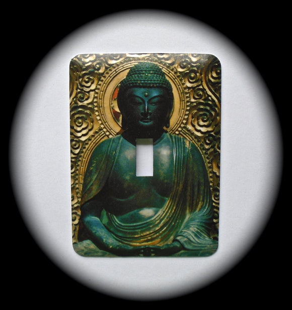 Metal Single Toggle Switch Plate Cover ~ Asian Buddha - Just Switch It 2