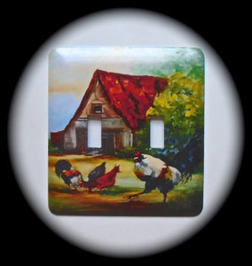 Double Switch Plate ~ Farm House