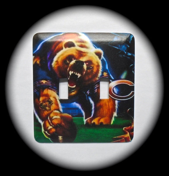 Double Switch Plate ~ NFL Bears