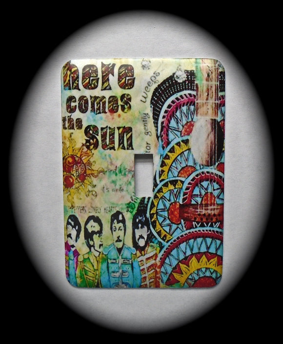 Metal Single Toggle Switch Plate Cover ~ Rock and Roll Band - Just Switch It 2