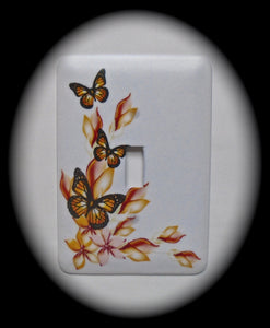 Single Switch Plate ~ Butterflies