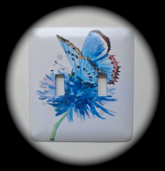 Double Switch Plate ~ Butterfly