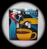 Metal Double Toggle Switch Plate Cover ~ Art Deco, Coffee - Just Switch It 2