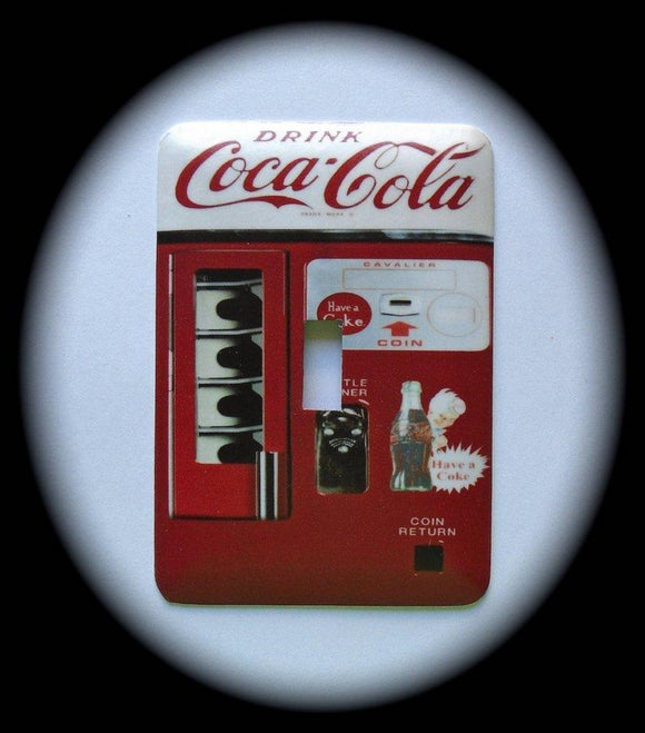Metal Single Toggle Switch Plate Cover ~ Cola Machine - Just Switch It 2