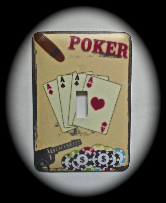 Single Switch Plate ~ Poker
