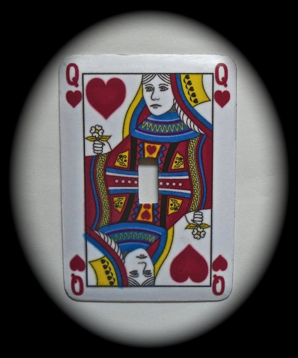 Single Switch Plate ~ Playing Card