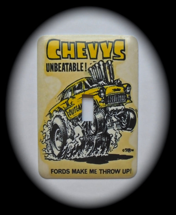 Single Switch Plate ~ Chevy Hot Rod