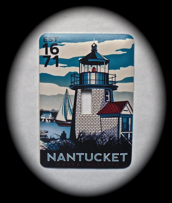 Metal Single Toggle Switch Plate Cover ~ Nantucket - Just Switch It 2