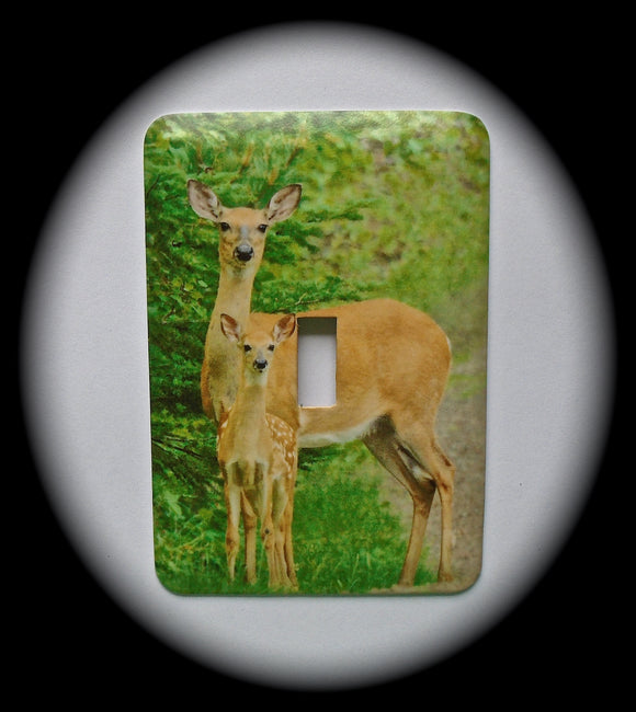 Metal Single Toggle Switch Plate Cover ~ Deer - Just Switch It 2