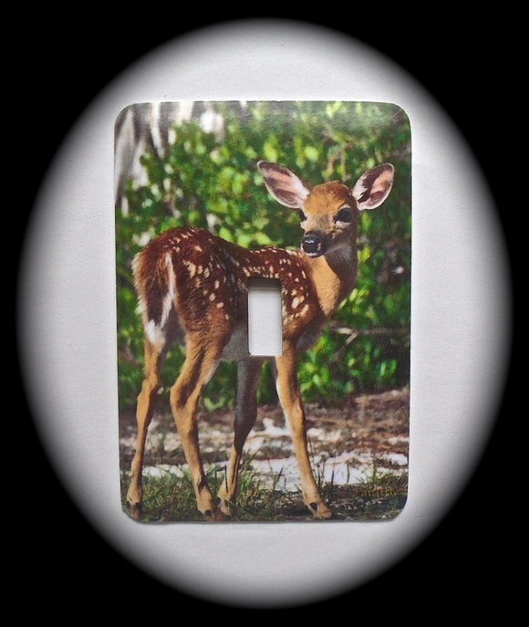 Single Switch Plate ~ Deer