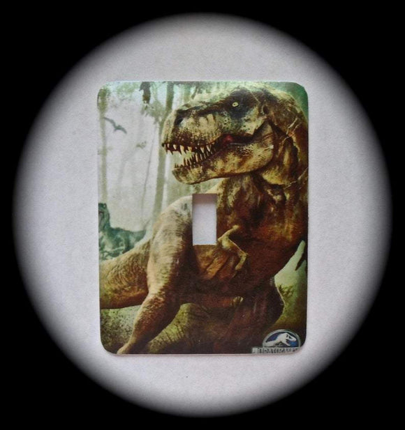 Metal Single Toggle Switch Plate Cover ~ Dinosaur, T-Rex - Just Switch It 2
