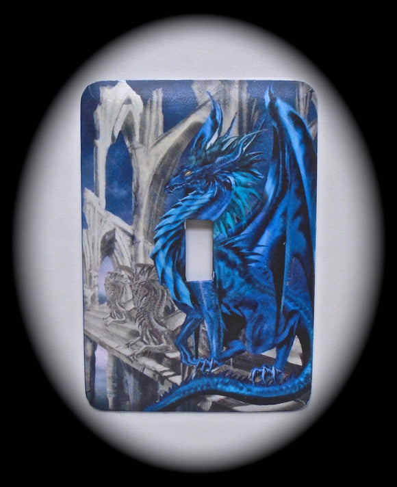 Single Switch Plate ~ Blue Dragon
