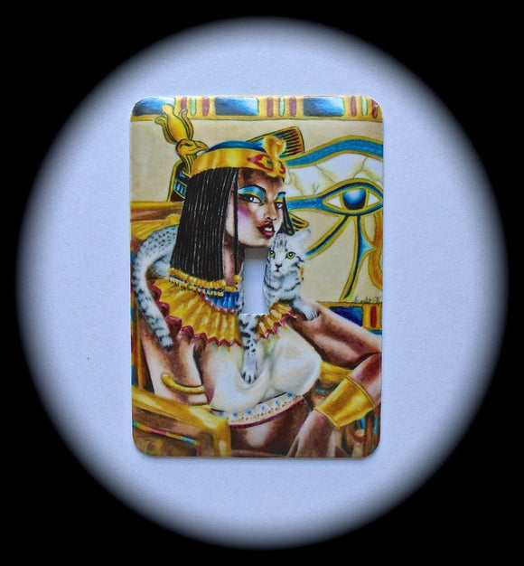 Metal Single Toggle Switch Plate Cover ~ Egyptian Woman - Just Switch It 2