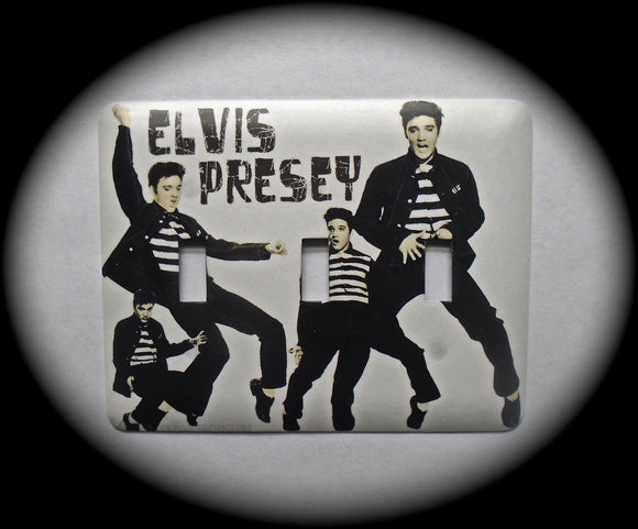 Metal Triple Toggle Switch Plate Cover ~ Elvis - Just Switch It 2