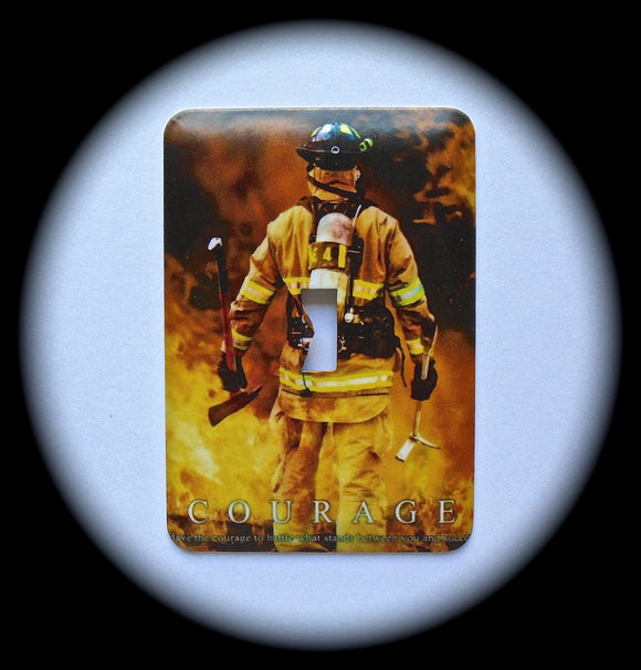 Metal Single Toggle Switch Plate Cover ~ Firefighter - Just Switch It 2